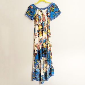 Flying Tomato Bright Floral Printed Hi Lil Dress